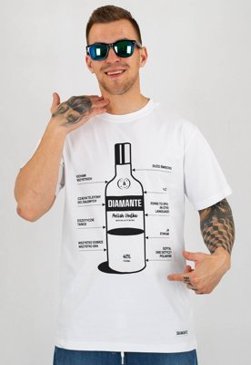 T-shirt Diamante Wear Polish Vodka biały