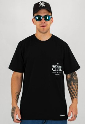 T-shirt Diamante Wear Smokers Club czarny