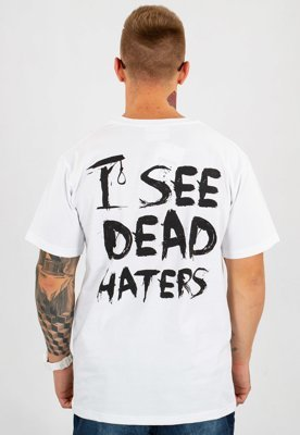 T-shirt Diamante Wear Unisex I See Dead Haters biały