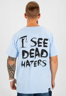 T-shirt Diamante Wear Unisex I See Dead Haters błękitny