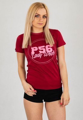 T-shirt Dudek P56 Lady bordowy