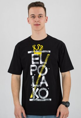 T-shirt El Polako Brush czarny