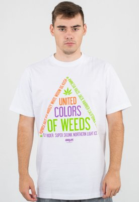T-shirt Equalizer United Colors Of Weeds biały