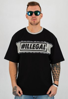 T-shirt Illegal Belt czarny
