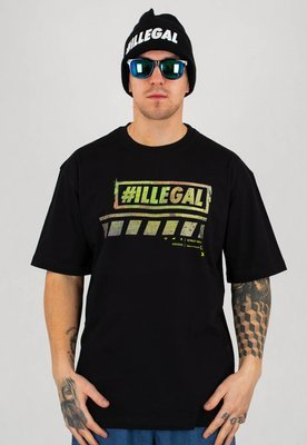 T-shirt Illegal Dirty Green czarny