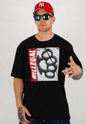 T-shirt Illegal Kastet New czarny