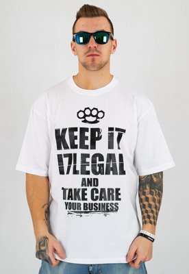 T-shirt Illegal Keep It biały