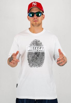 T-shirt Illegal Odcisk Illegal biały