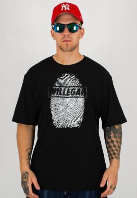 T-shirt Illegal Odcisk Illegal czarny