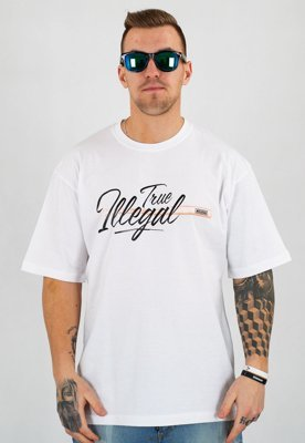 T-shirt Illegal True Illegal biały