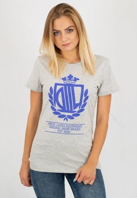 T-shirt Lady Diil Harvard szary