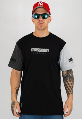 T-shirt Mass Triple czarny