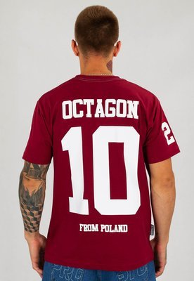 "T-shirt Octagon ""10"" bordowy"