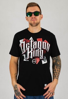 T-shirt Octagon King czarny