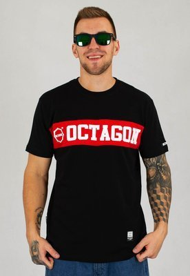 T-shirt Octagon Middle czarny