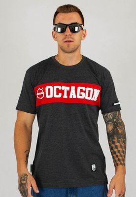 T-shirt Octagon Middle grafitowy