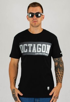 T-shirt Octagon New Lines czarny