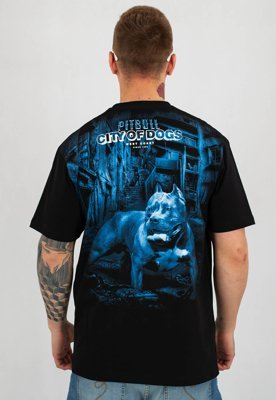 T-shirt Pit Bull City Of Dog czarny