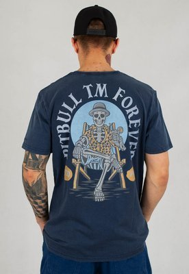 T-shirt Pit Bull Denim Washed Forever granatowy