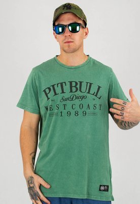 T-shirt Pit Bull Denim Washed Old School zielony