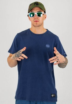 T-shirt Pit Bull Denim Washed Small Logo granatowy