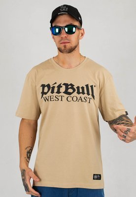 T-shirt Pit Bull Old Logo piaskowy