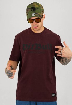 T-shirt Pit Bull Regular Fit 210 Old Logo bordowy