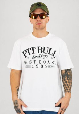 T-shirt Pit Bull Regular Fit 210 Old School Logo biały