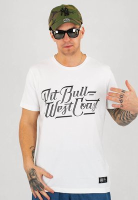 T-shirt Pit Bull Slim Fit Lycra Speed biały