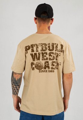 T-shirt Pit Bull Tray Eight piaskowy