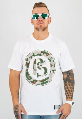 T-shirt Prima Sort Circle Camo biały