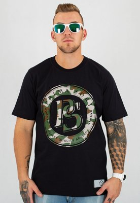 T-shirt Prima Sort Circle Camo czarny