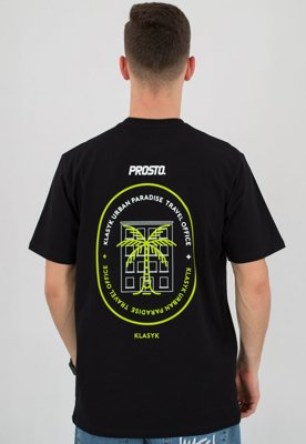 T-shirt Prosto Travel czarny
