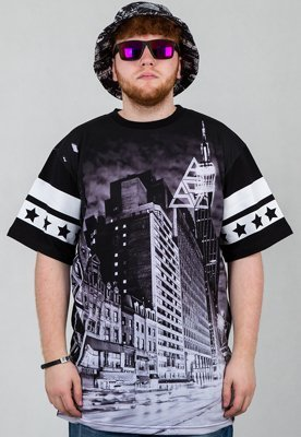 T-shirt SSG City Triangle BW czarny