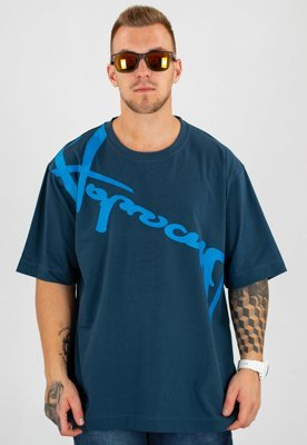 T-shirt Stoprocent Baggy Downhill 17 granatowy