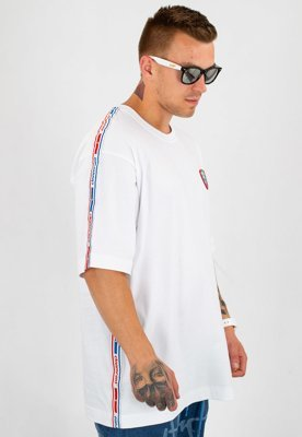 T-shirt Stoprocent Baggy Stripe 18 Light biały
