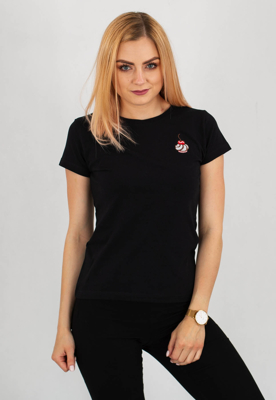 T-shirt Stoprocent Cherry czarny