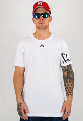 T-shirt Stoprocent Slim Armed biały