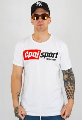 T-shirt Stoprocent Slim CS Simple biały