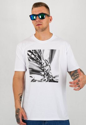T-shirt Stoprocent Slim Chromic biały