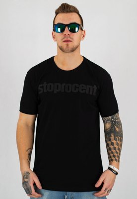 T-shirt Stoprocent Slim Simple czarno czarny