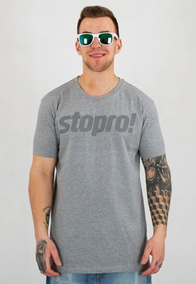 T-shirt Stoprocent Slim Stopro szary