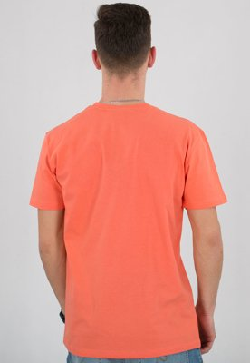T-shirt Stoprocent Slim Tag coral