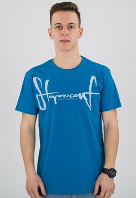 T-shirt Stoprocent Slim Tag niebieska