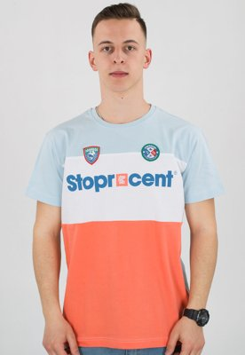 T-shirt Stoprocent Slim Team coral