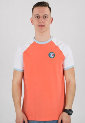 T-shirt Stoprocent Slim Troopers coral