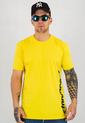 T-shirt Stoprocent Slim Vertcut żółty