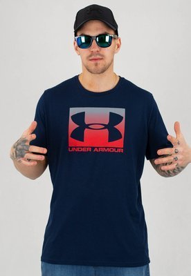 T-shirt Under Armour UAR 1329581408 UA Boxed Sportstyle granatowy