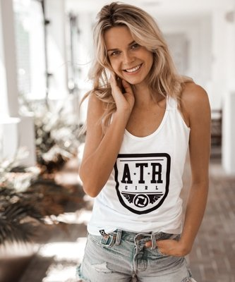 Tank Top ATR WEAR Shield biały