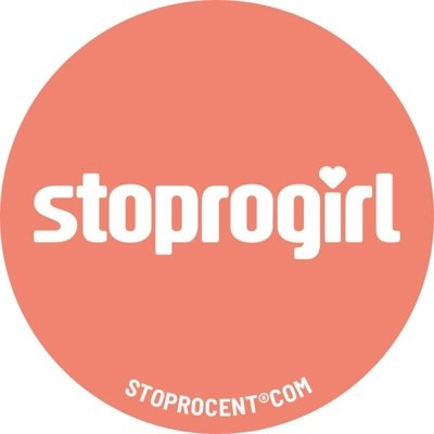 Wlepa Stoprocent StoproGirl coral